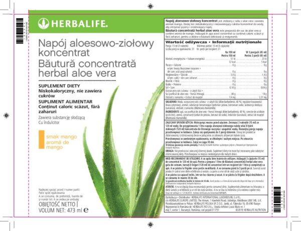 Herbalife Aloes Skład