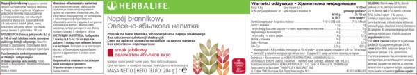 Napój błonnikowy Herbalife skład
