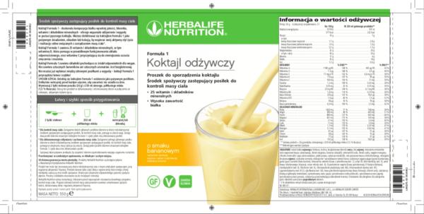 Koktajl Herbalife bananowy skład