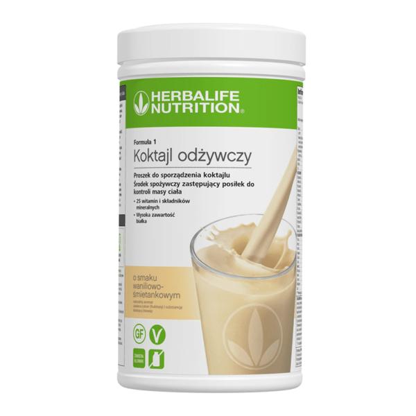 Koktajl odżywczy Herbalife o smaku waniliowo-śmietankowym 550 g