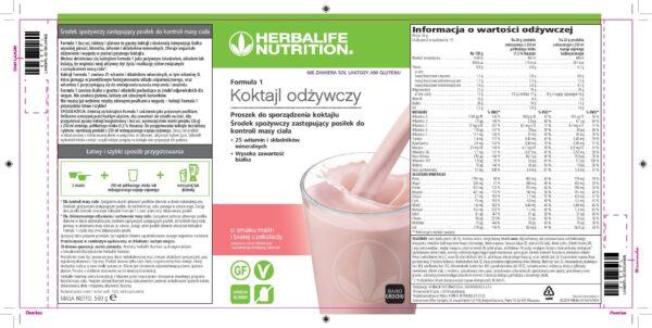 Skład Koktajl Herbalife bez glutenu